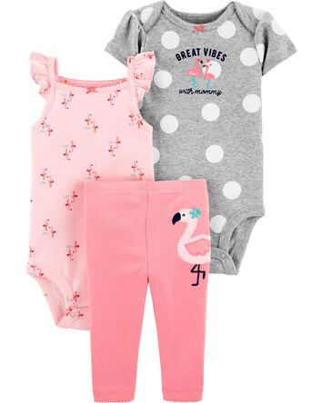 3-Piece Flamingo Little Character S...