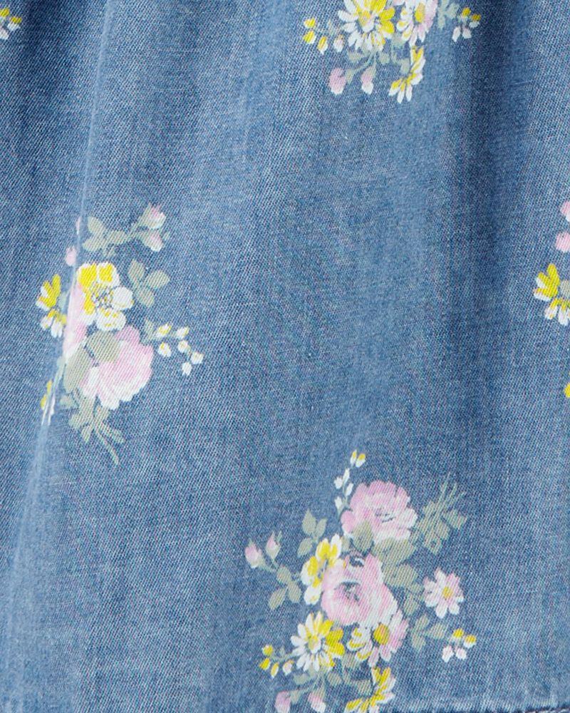 Floral Denim Skirtall, , hi-res