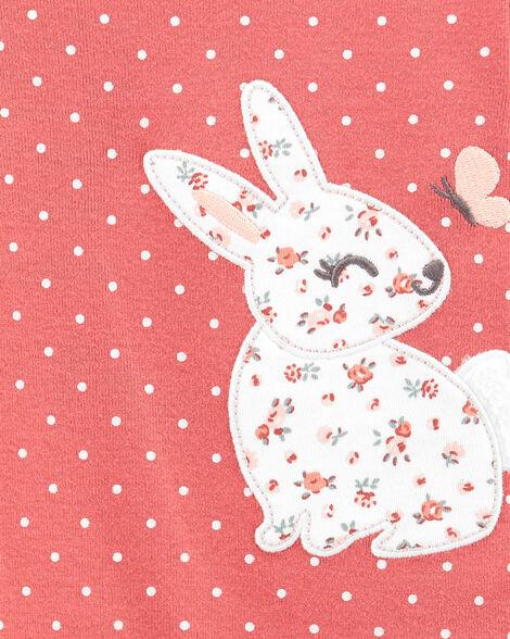2-Piece Bunny Peplum Bodysuit Pant Set