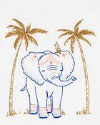 Glitter Elephant Tulip Slub Tank, , hi-res