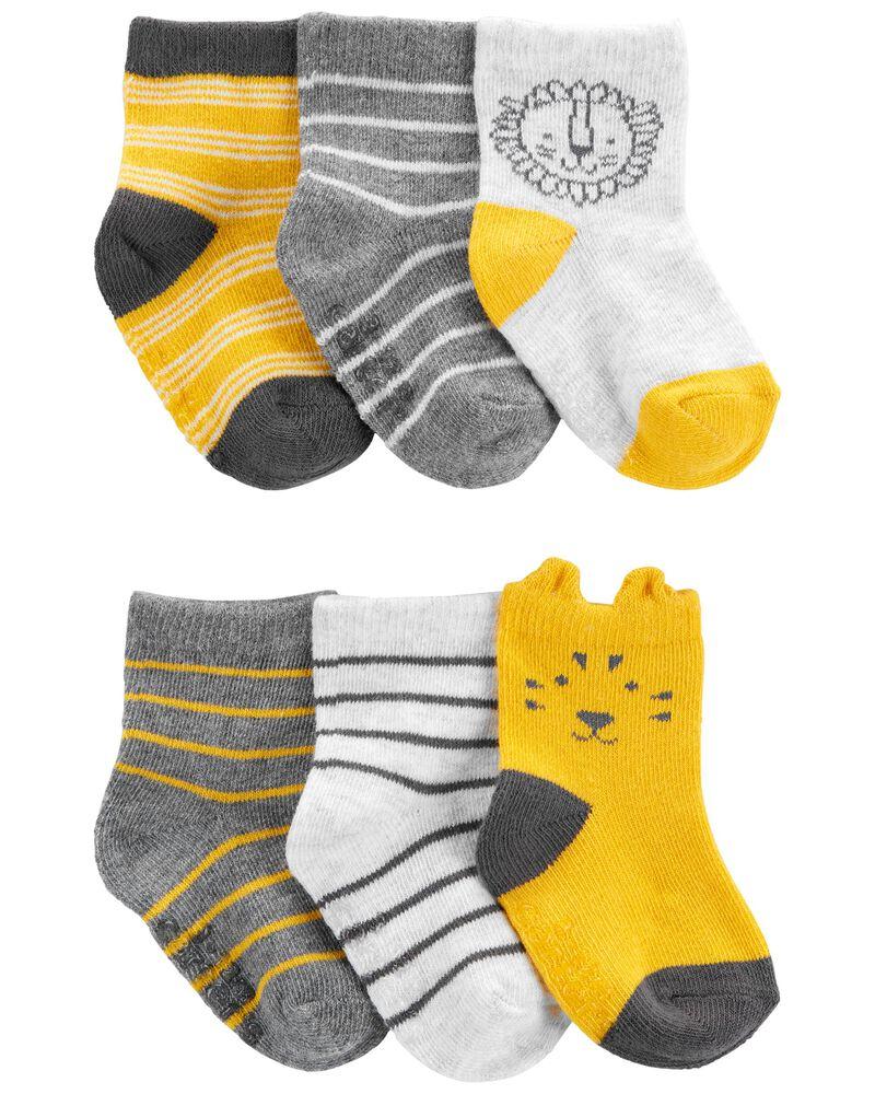 6 paires des chaussons à lion, , hi-res