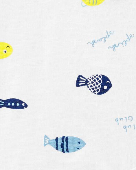 Cache-couche à collectionner motif poisson