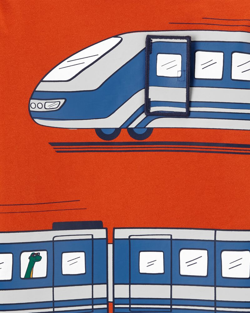 T-shirt en jersey de style superpos/ Bullet Train, , hi-res
