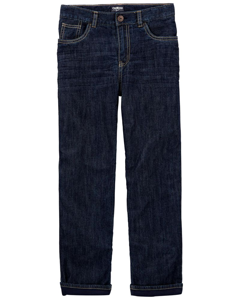 Microfleece-Lined Jeans - True Rinse Wash, , hi-res