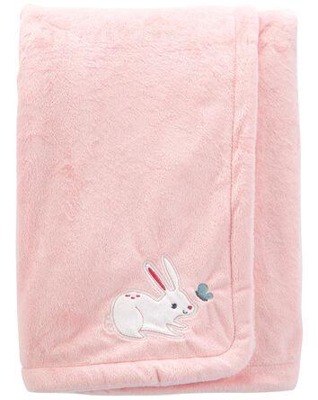 Bunny Fuzzy Plush Blanket