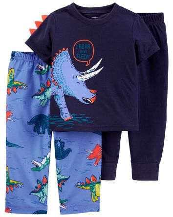 3-Pack Dinosaur Loose Fit PJs
