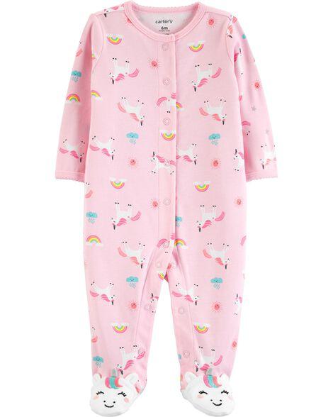 Unicorn Snap-Up Cotton Sleep & Play