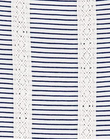 Striped Crochet Tunic