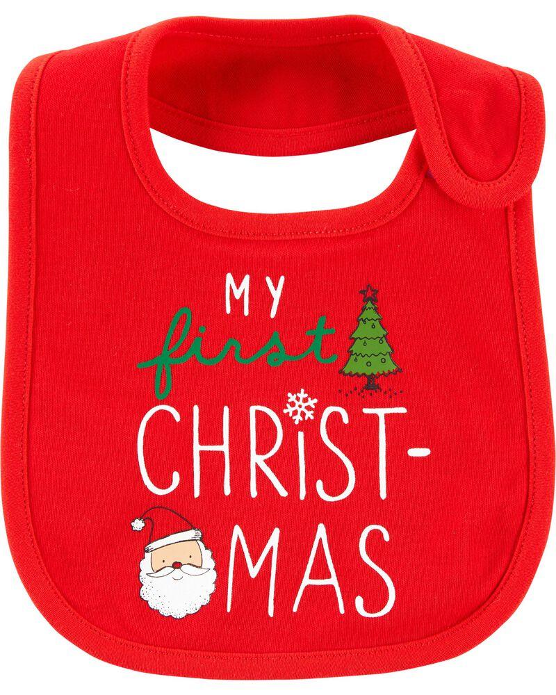 Christmas Teething Bib, , hi-res