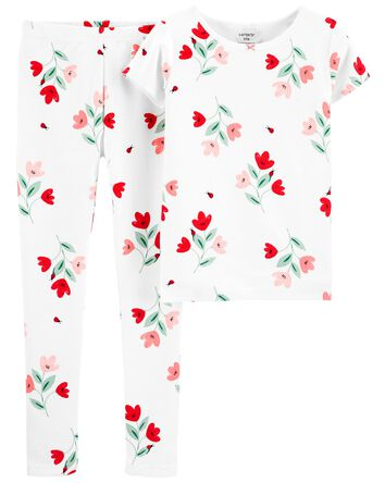 2-Piece Floral 100% Snug Fit Cotton...