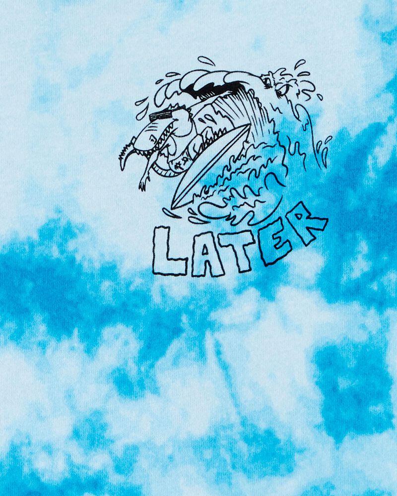T-shirt teint par nœuds avec alligator, , hi-res