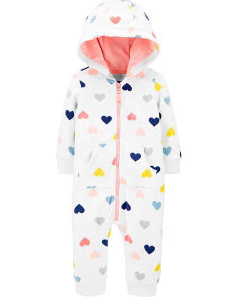 Heart Fleece Jumpsuit