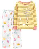 2-Piece Bunny Fleece PJs, , hi-res
