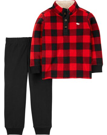 2-Piece Buffalo Check Pullover & Jo...