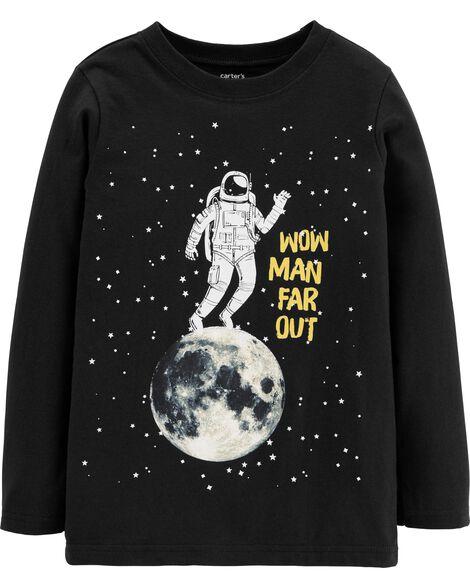 T-shirt en jersey astronaute sur la lune