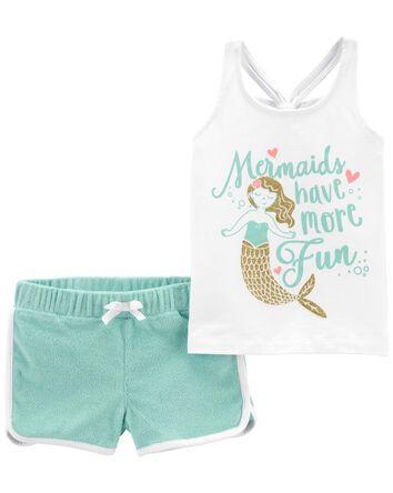 2-Piece Mermaid Tank & Short Set