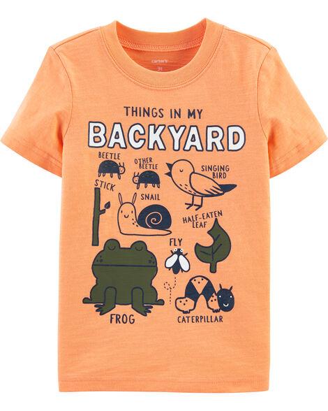 T-shirt en jersey flammé Things In My Backyard
