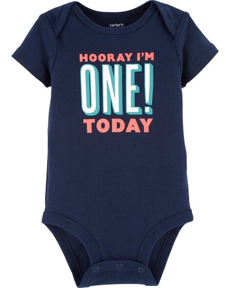 First Birthday Collectible Bodysuit