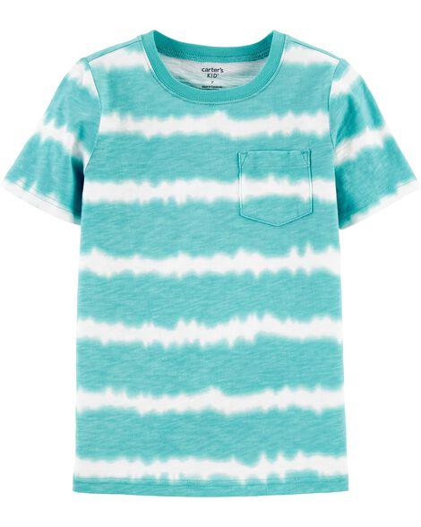 T-shirt à poche en jersey flammé teint sur nœud