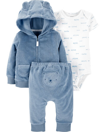 3-Piece Bear Little Jacket Set