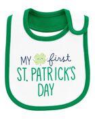 St. Patrick's Day Teething Bib, , hi-res