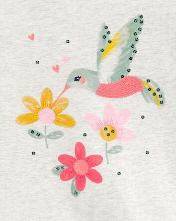 T-shirt en jersey à colibri