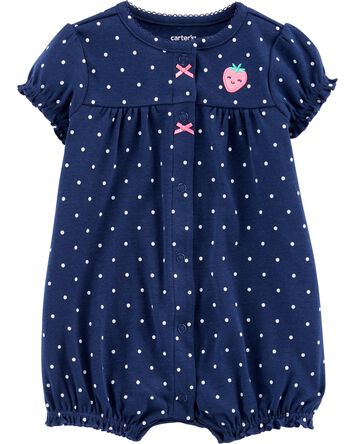 Strawberry Snap-Up Romper