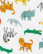 4-Piece Safari 100% Snug Fit Cotton PJs, , hi-res