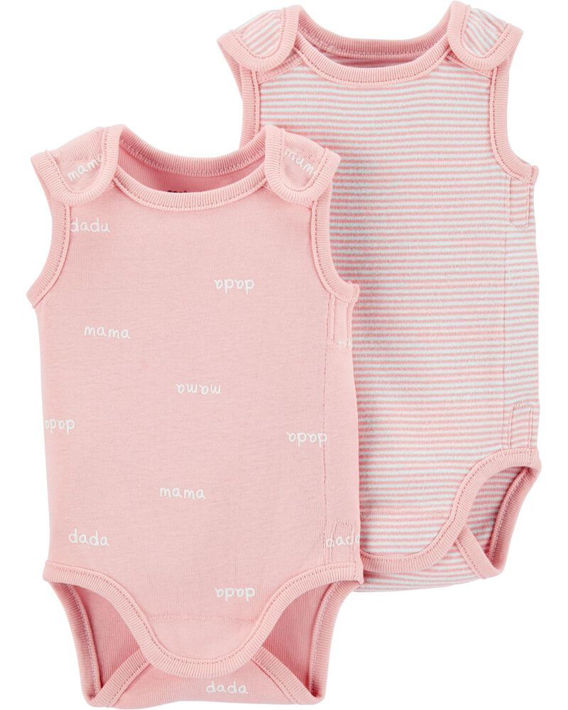 2-Pack Preemie Collection Bodysuits, , hi-res