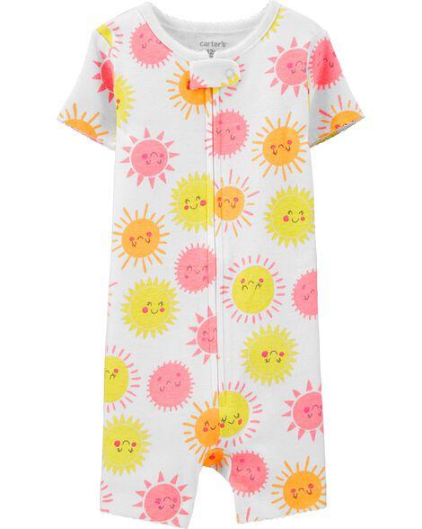 1-Piece Sun Snug Fit Cotton Romper PJs