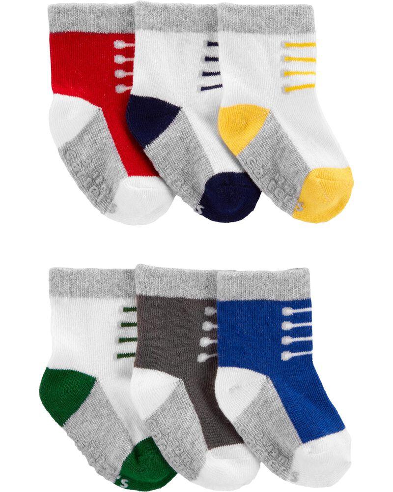 6 paires de chaussettes à motif d'espadrille, , hi-res