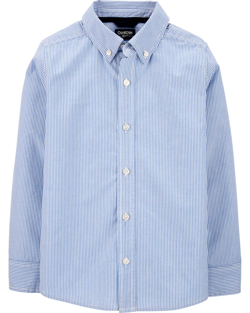 Chemise d'uniforme boutonnée à rayures, , hi-res