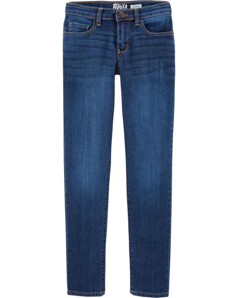 Jeans ultra étroit - délavage bleu marin, , hi-res