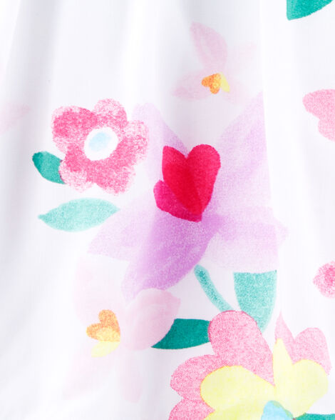 Robe volantée fleurie