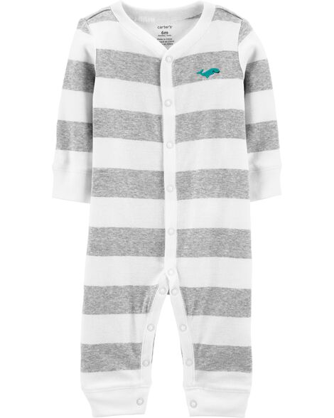 Striped Snug Fit Cotton Footless Sleep & Play