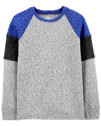 Sueded Jersey Raglan Tee