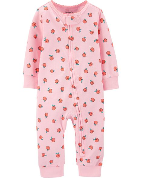 Strawberry Zip-Up Cotton Footless Sleep & Play