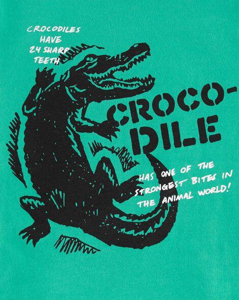 T-shirt à imprimé original de crocodile