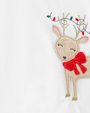 2-Piece Holiday Christmas Fleece PJ...