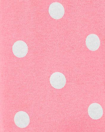 Polka Dot 2-Way Zip Cotton Sleep &...