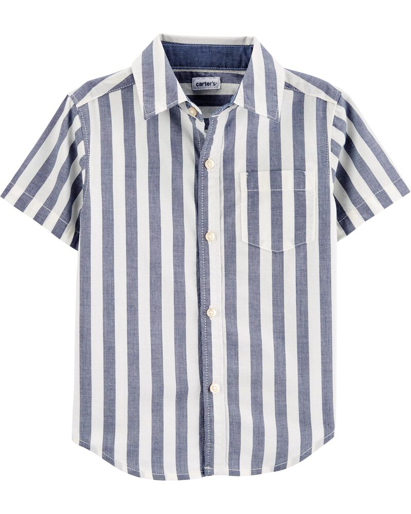 Chemise boutonnée à rayures, , hi-res