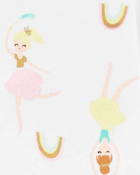 1-Piece Ballerina Snug Fit Cotton Footie PJs