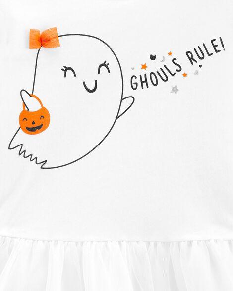 Ensemble 2 pièces t-shirt Ghouls Rule et legging d'Halloween
