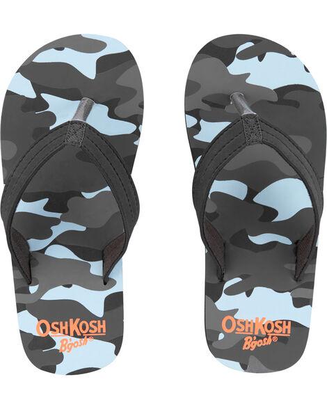Sandales de plage à imprimé camouflage