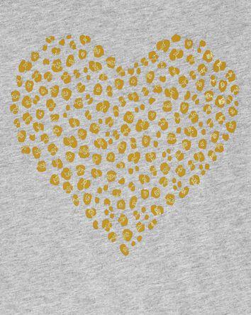 Leopard Heart Jersey Tee