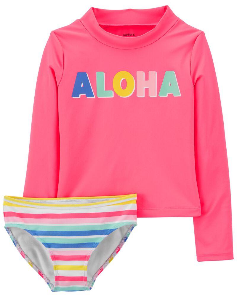 Aloha 2-Piece Rashguard Set, , hi-res