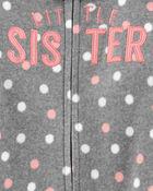 Grenouillère en molleton à glissière Sister, , hi-res
