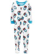 1-Piece 100% Snug Fit Cotton Footie PJs, , hi-res