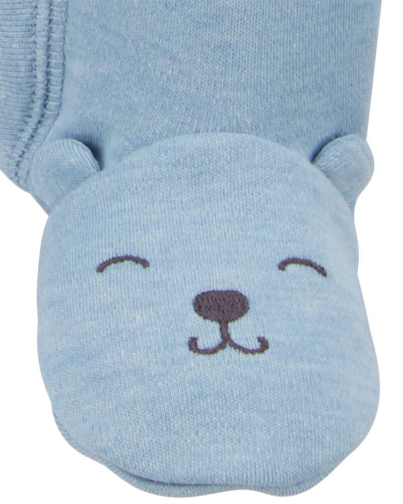 Grenouillère pour dormir et jouer avec glissière à motif d'ours, , hi-res