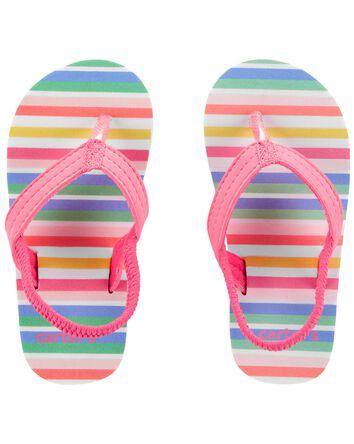 Sandales de plage rayées